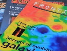 Frontiers – Swindon science research magazine design
