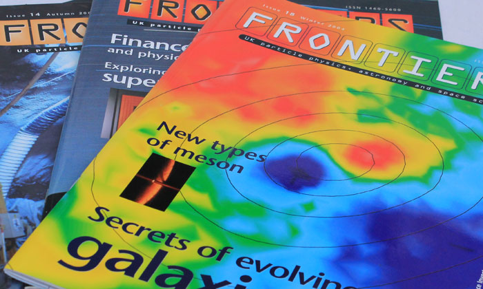 Frontiers – science research magazine design